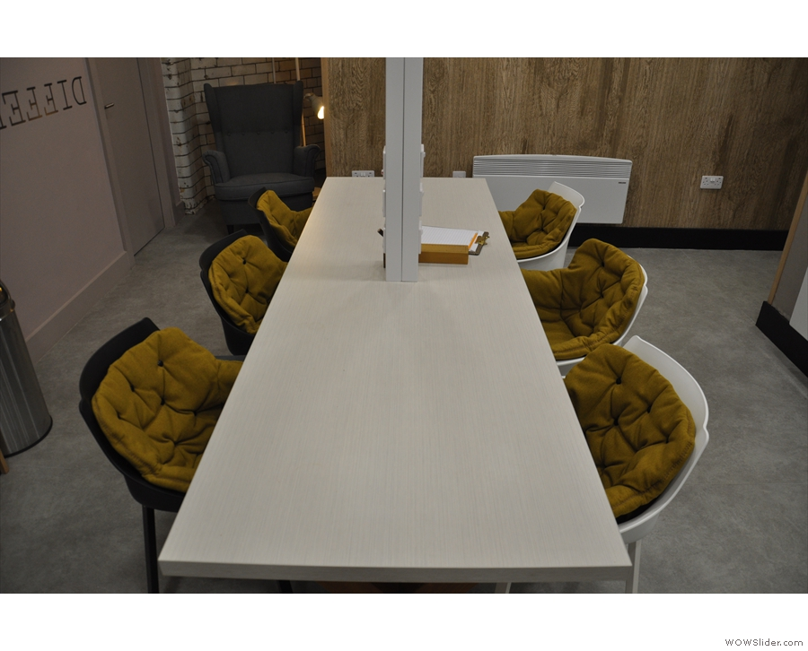 Another view of the communal table.