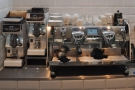 The heart of the coffee operation: a (silver) Victoria Arduino Black Eagle...