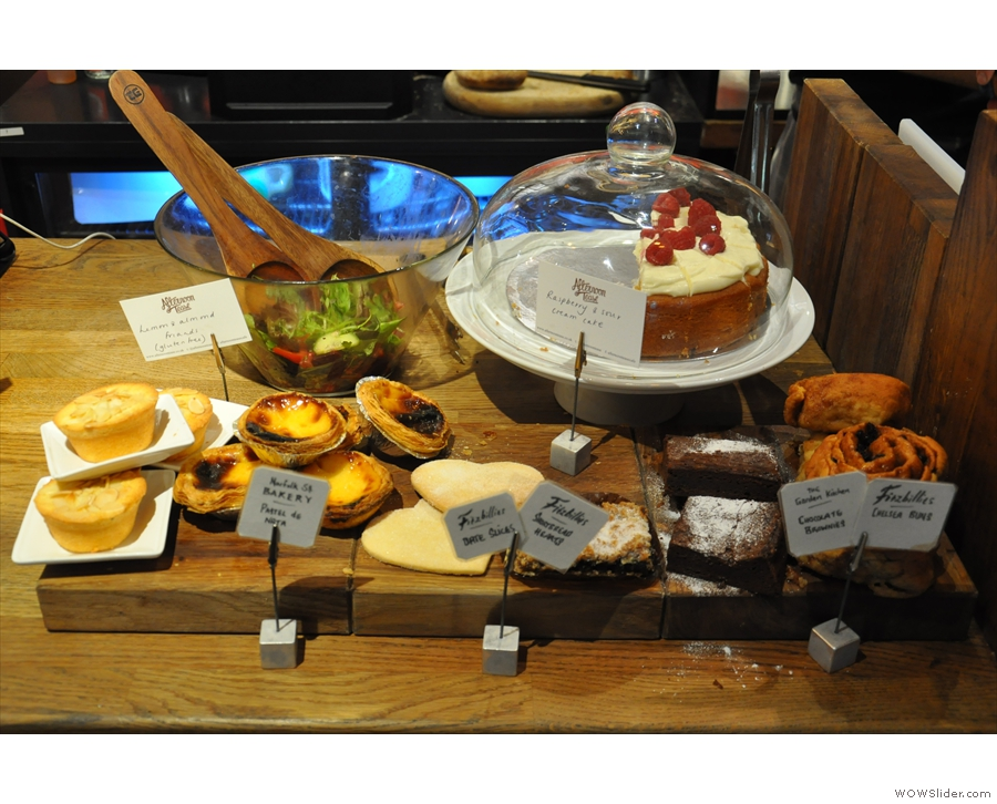 The copious cake display, seen here in 2014...