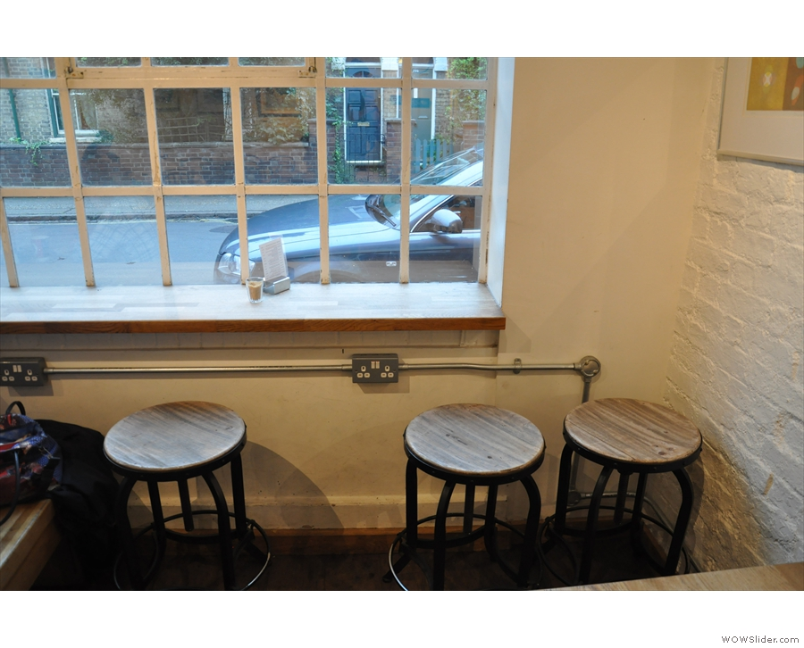 If you don't fancy them, there are some bar stools by the window to the left of the door...