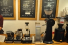 The flter coffee is out there for all to see, including the hot water dispenser & EK-43 grinder.