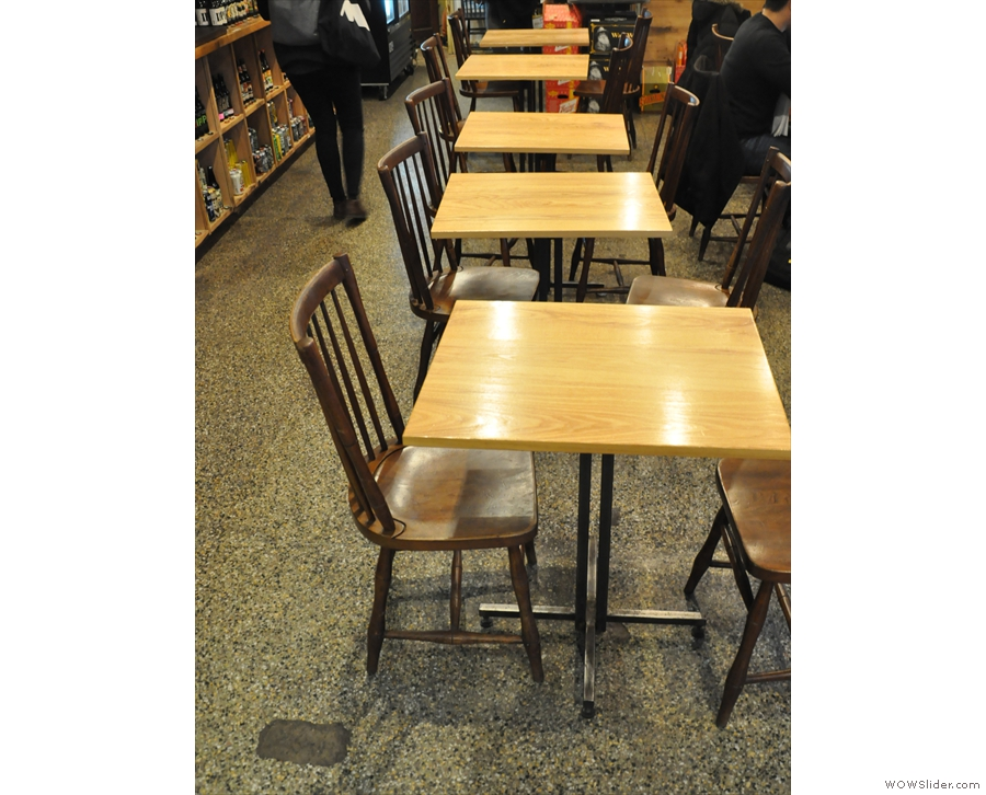 ... and this row of tables down the centre.