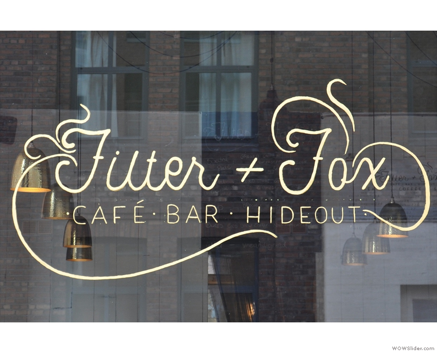 Liverpool's Filter + Fox, great coffee, great setting and fantastic lights.