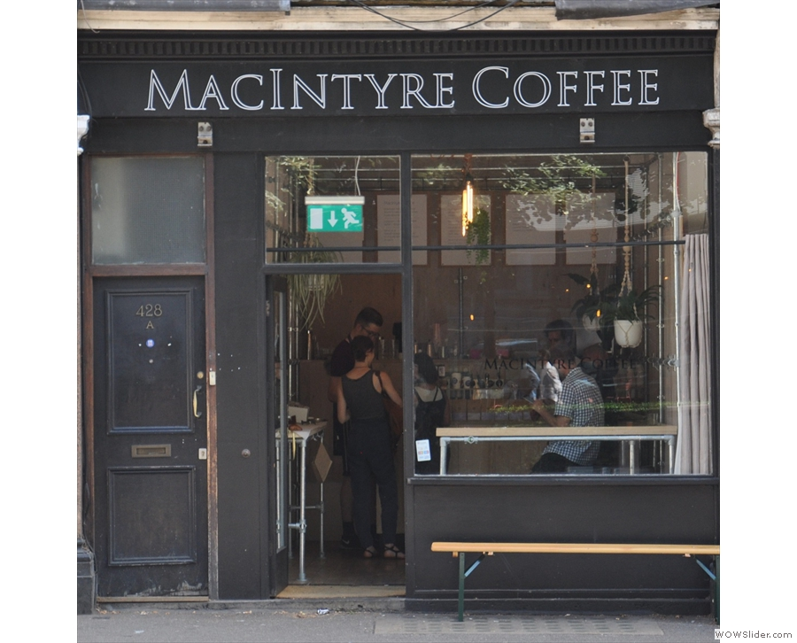 The new MacIntyre Coffee is a lot smaller than the old one.