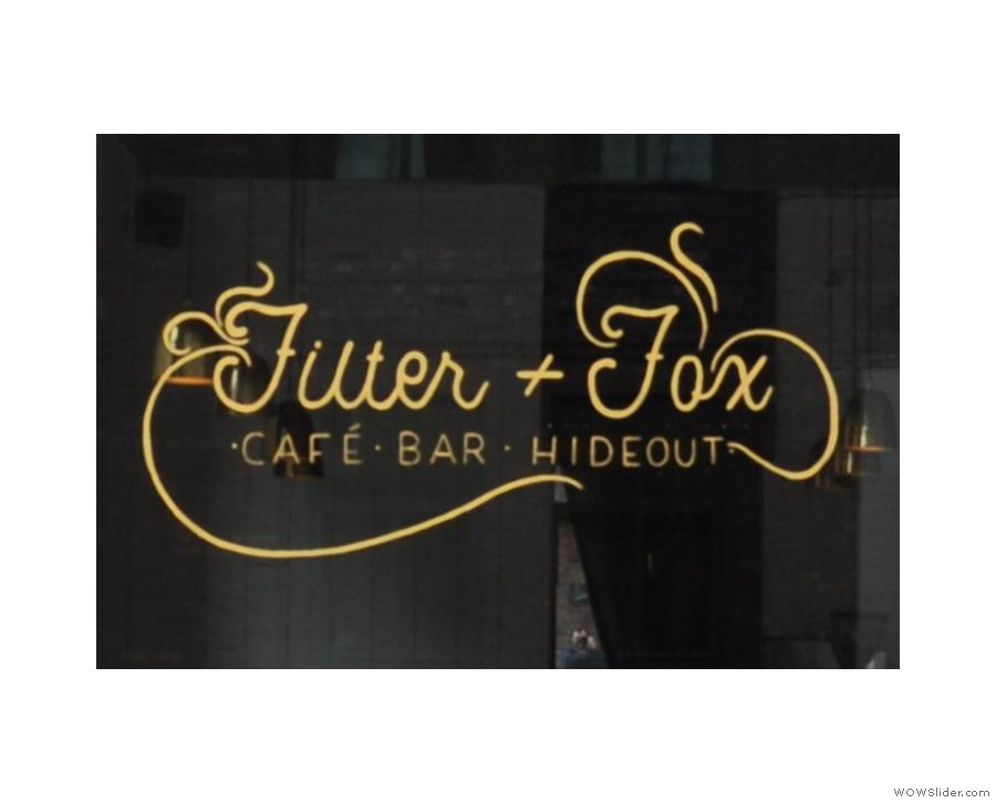 Filter + Fox, home of the red velvet and custard cream cake.