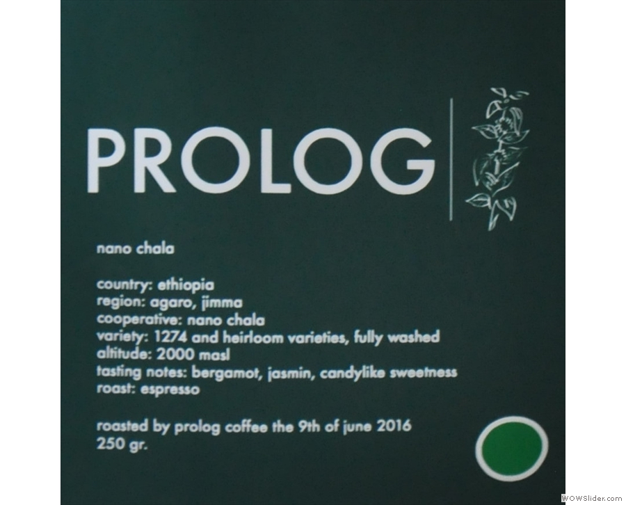 Prolog Coffee Bar, roasting and serving great coffee in Copenhagen.