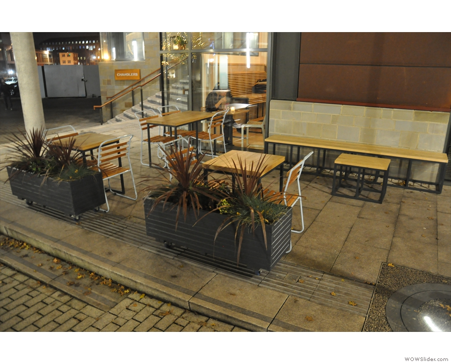 There's plenty of outdoor seating though, lining the pedestrianised steps.