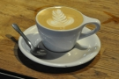 However, getting back to espresso, check out the latte art. It wasn't mine though.