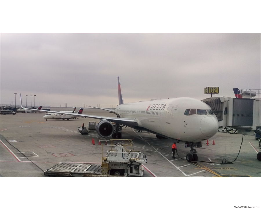 Meet my trusty steed for my return to Phoenix: a Delta Airlines 767-300, although, in this instance, it was only taking me as far as Salt Lake City (where this photo was taken).