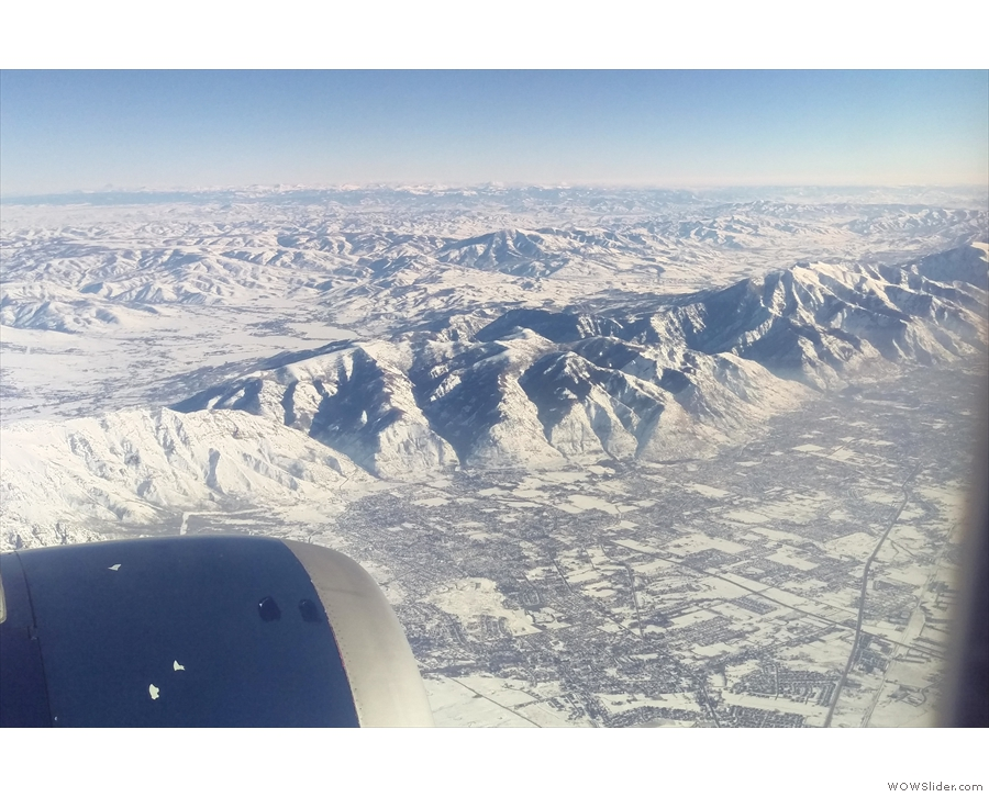As we began our final approach into Salt Lake City, we flew south down a long valley...
