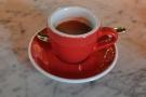My (single-origin) espresso in a classic red cup...