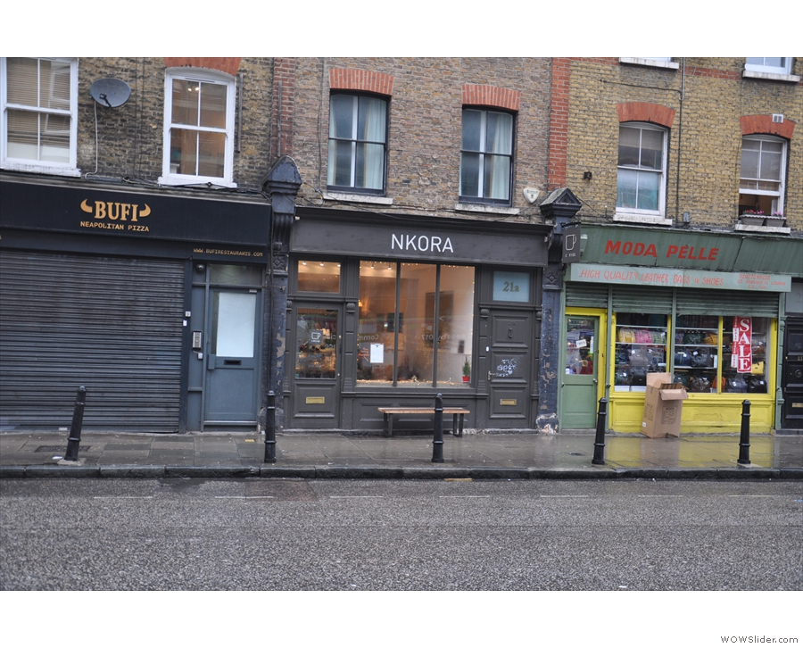 Nkora, at the southern end of London's Hackney Road.
