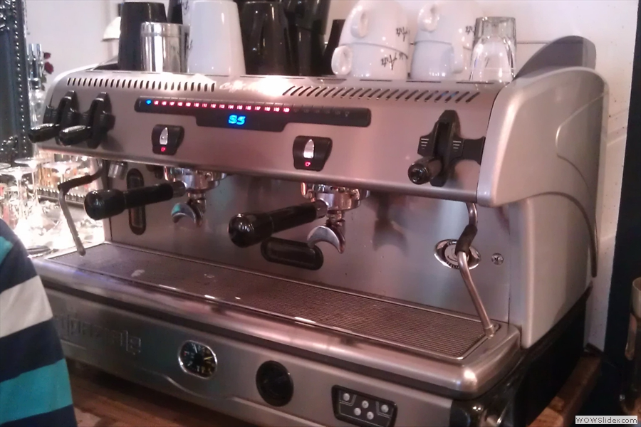 Not to forget the trusty old espresso machine which was also to play a part in the afternoon's procedings.