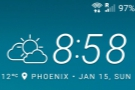 Sunday morning in Phoenix dawned bright, and, for January, relatively warm!
