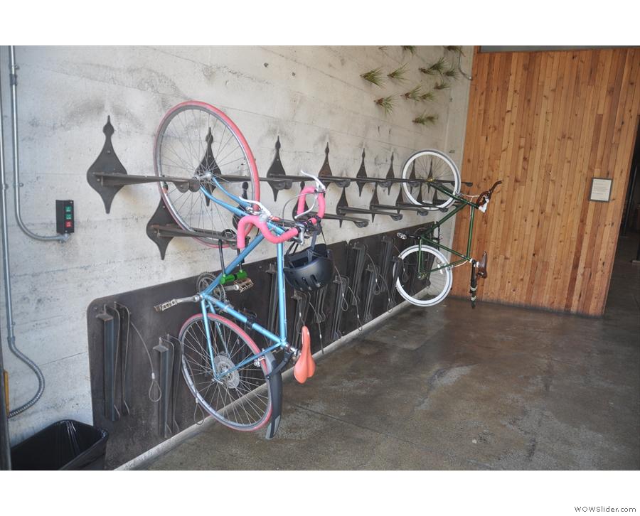Nice bike storage.