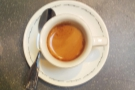 I leave you with a shot of my espresso, the Kenyan single-origin.