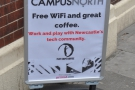 Why, it's Campus North, home of the third Flat Caps Coffee, Flat Caps Campus North!