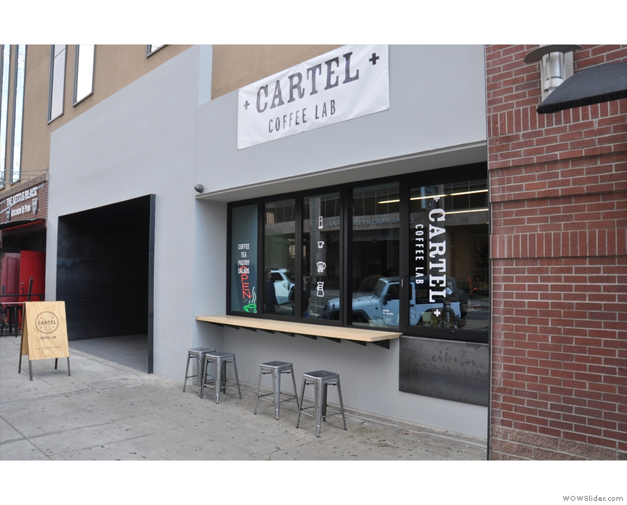 But first, coffee, and the downtown branch of Cartel, recently installed in its new location.