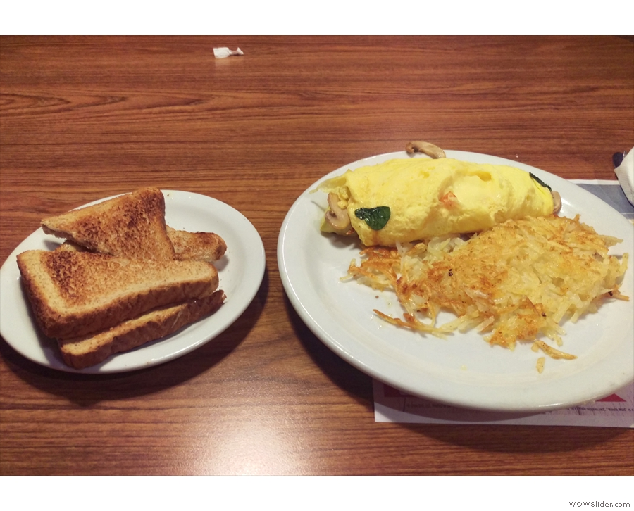 One of my guilty secrets: I rather like Denny's. This was my first visit for dinner though.