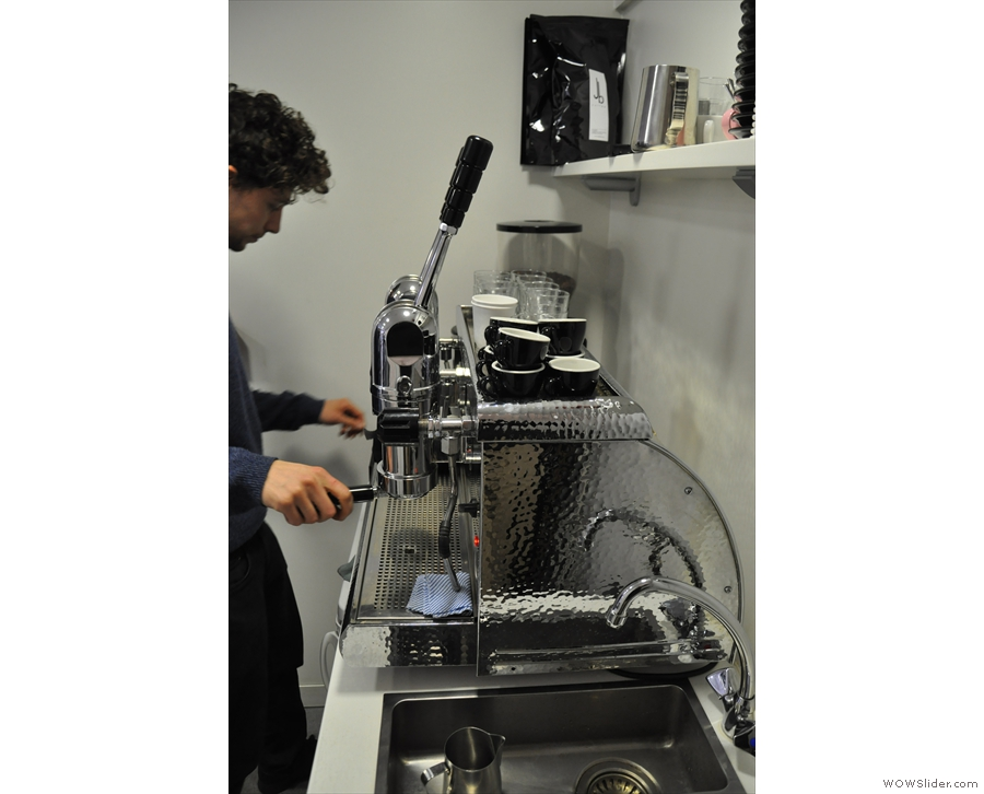 Now for the espresso masterclass. Lever machines require a little more love than most...