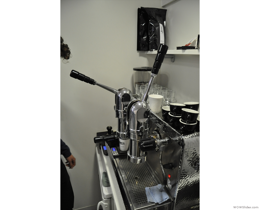A good barista, of course, always watches his extraction.
