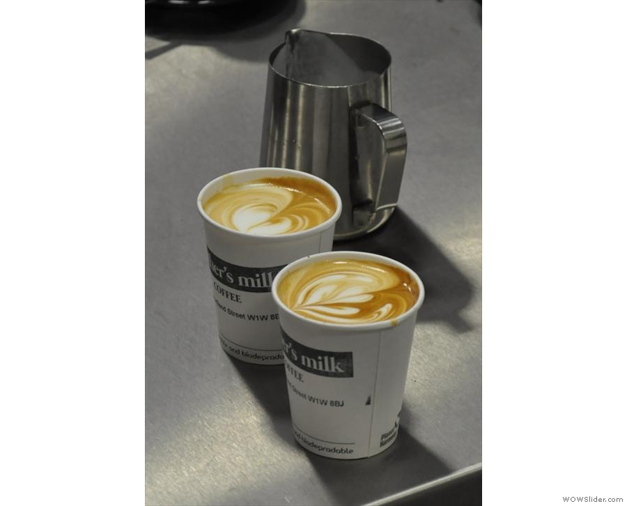Et voila! Nice latte art.