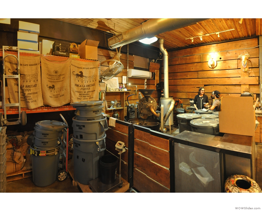 It's the Panther Coffee Roastery, and, at the heart of the operation...