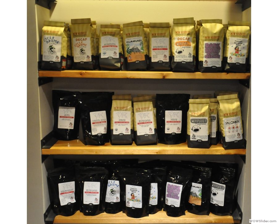 As a roaster, New Harvest Coffee has plenty of bags of coffee for sale!