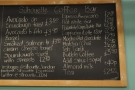 ... while the same menu is chalked up on the wall behind the counter.