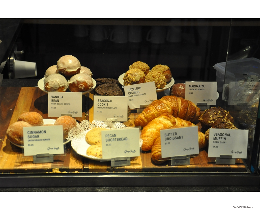 Finally, at the left-hand end, is the small, but tempting cake display...