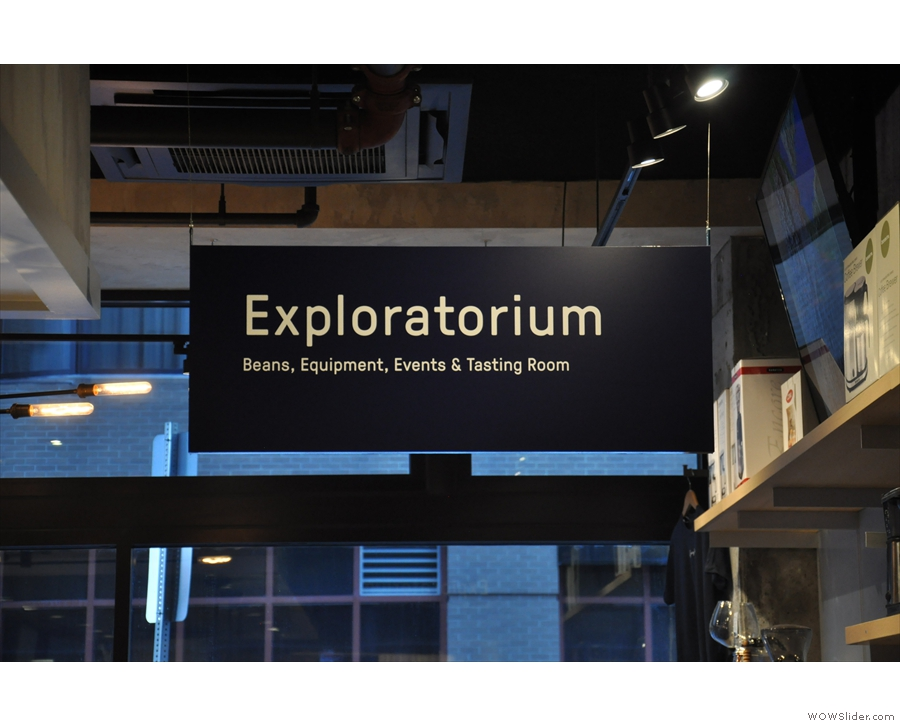 ... known as the Exploratorium. This holds George Howell's regular coffee events...