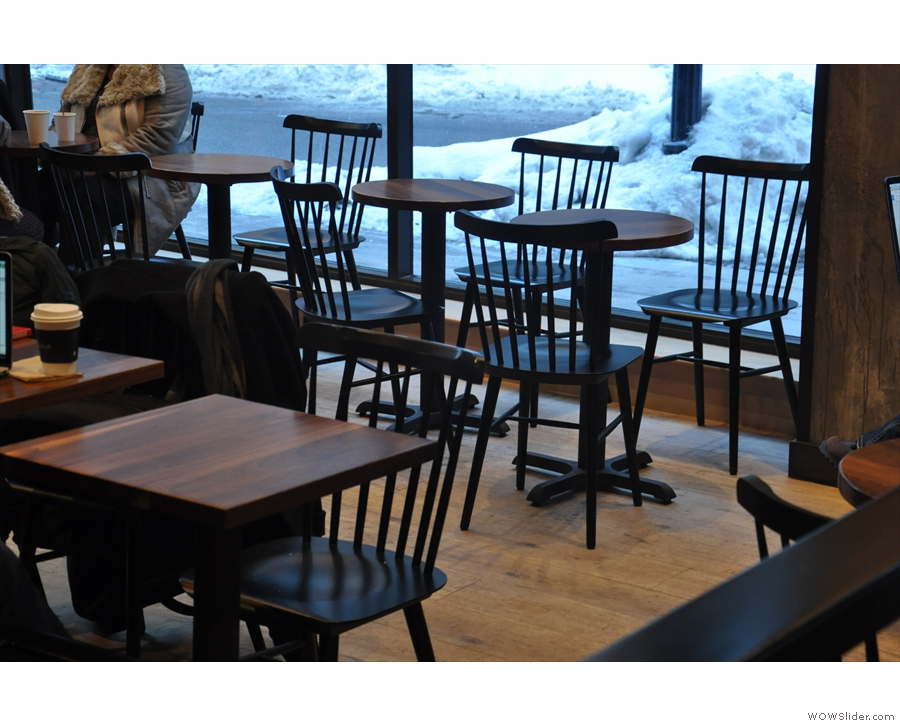 ... in the form of more conventiion round and square two-person tables.