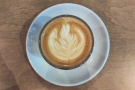 I'll leave you with the latte art in my cortado...