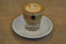 And my cortado, up close and personal.