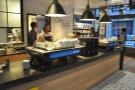 There's a pair of Kees van der Westen espresso machines, looking sleek and beautiful...