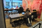 ... in the form of two long, communal tables...