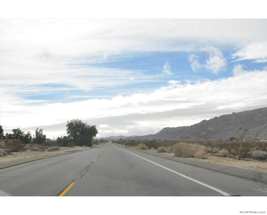 I arrived at Twentynine Palms in time to drive south into Joshua Tree National Park.