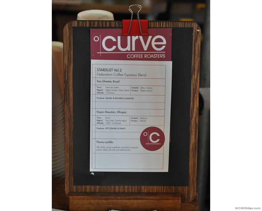 There's a house-blend from Kent-based roasters, Curve...