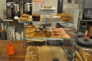 Finally, at the end of the counter, there's a selection of cake...