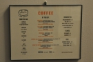 The menu is duplicated around the store, in printed form, for example...