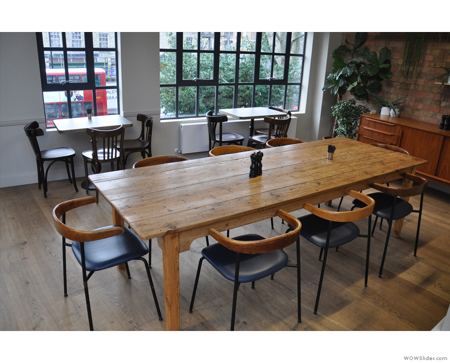 This includes a beautiful, large, communal table...