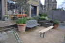 Allpress has a lovely front garden with some great seating options.