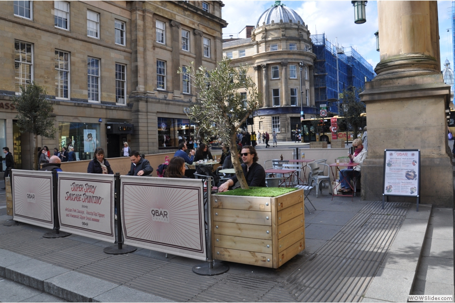 If that's not to your liking, you can always sit outside on Grey Street.