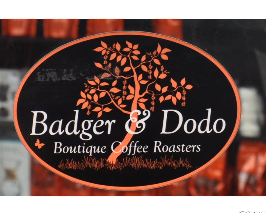 The beautiful Badger & Dodo logo (complete with tree) from the door.