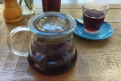 My coffee, a Colombia La Esperanza Tolima, in the glass.
