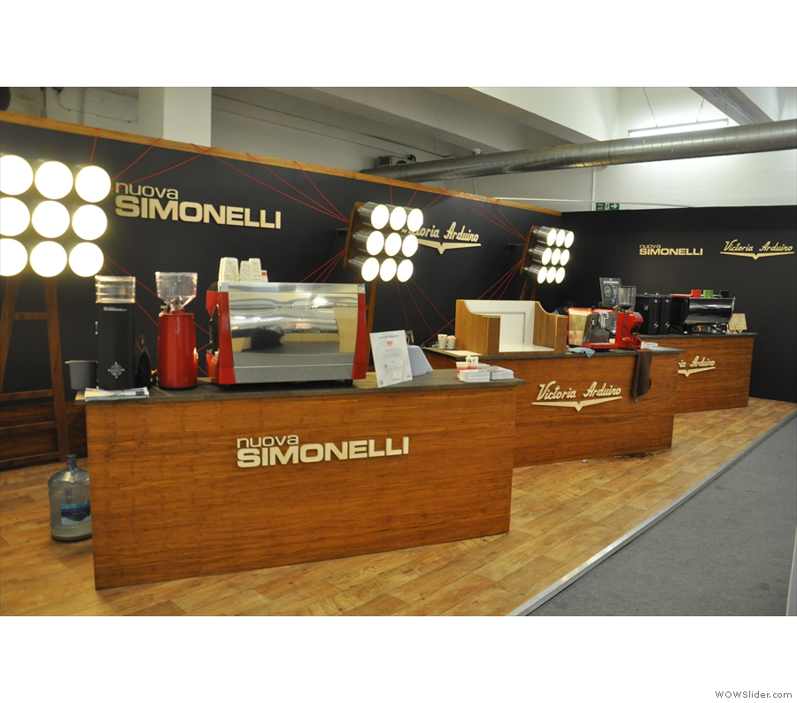 ... and espresso machines from the likes of Nuova Simonelli.