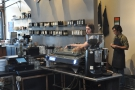 There are also two espresso machines, this Kees van der Westen on the left...