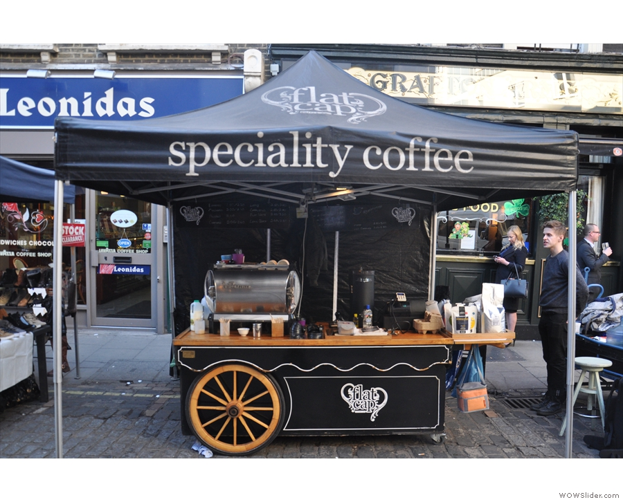 It's the Flat Cap Coffee Cart, a veteran of the London speciality coffee scene!