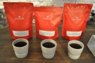 My coffee, with the bags behind. With thanks to Emily for the loan of her bag of the Burundi.