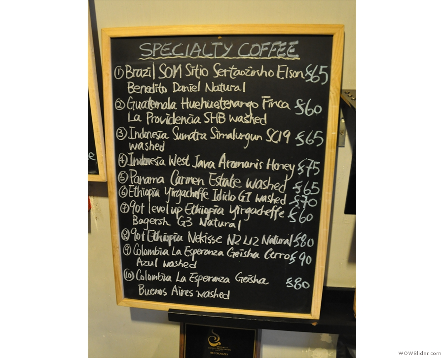 Alternatively, you can drink the coffee here, where there's an even larger selection!